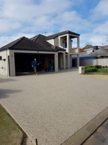Exposed aggregate Concrete Driveway Lockridge