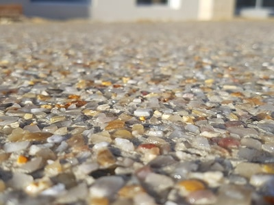 Sorrento exposed aggregate